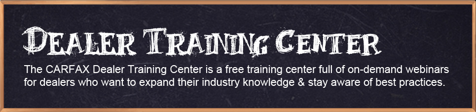 Dealer Training Center