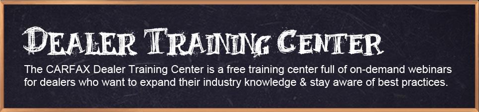 Dealer Training Center
